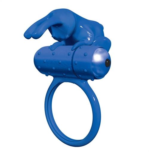 BMS PowerBullet Buzz Bunny Vibrating Cockring Blue