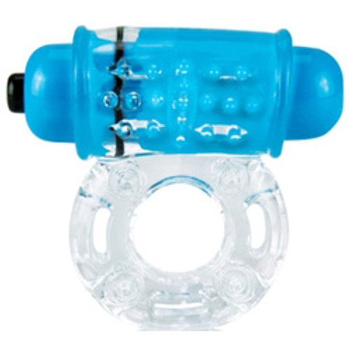 Screaming O ColorPOP The O Wow 4-function Vibrating Cockring Blue