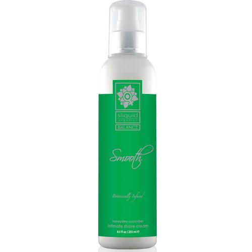 Sliquid Organics Balance Smooth Intimate Shave Creme Honeydew Cucumber 8.5 oz