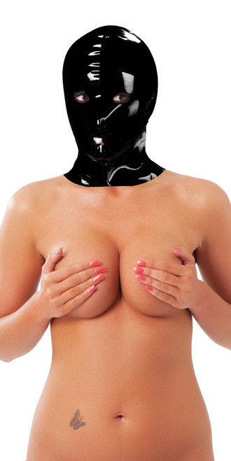 Rimba Unisex Latex Face Mask Black Small/Medium