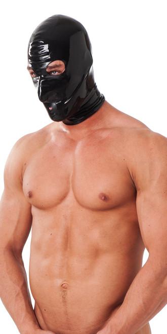 Rimba Unisex Latex Face Mask Black Medium/Large