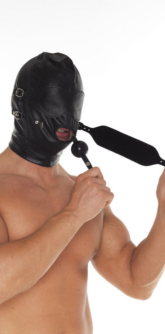 Rimba Leather Multi Blinder Executioners Mask Black