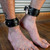 Buy the Adjustable Black Premium Garment Leather Lockable Ankle Cuffs made in the USA - StockRoom