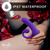 Buy the Hop Collection Oh Bunny 20-function Rechargeable Flexible Dual Stimulating Silicone Vibrator with Air Pulse Technology in Purple G-Spot Clitoral Stimulation - Blush Novelties