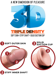 pipedream king cock plus 3d triple density dongs made in the usa