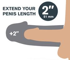 Pipedreams Fantasy X-tensions Fanta Flesh Mega Penis Extension Sleeve 2 inch
