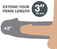 Pipedreams Fantasy X-tensions Fanta Flesh Mega Penis Extension Sleeve 3 inch