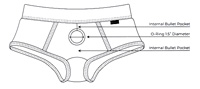Sportsheets Em.Ex. Fit Active Strap-On Harness Wear Boxer Brief diagram