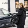 noordi luno 3 in 1 travel system Grey Ocean Wave car seat
