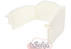 cream cot bumper luxury cot bedding