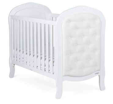 Bebecar Trama white leather cot bed
