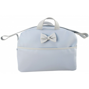 Blue & Grey Spanish Style Baby Changing Bag