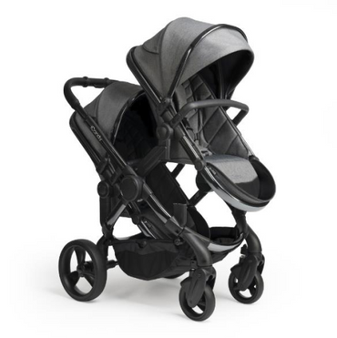 icandy peach blossom grey twill double pushchair