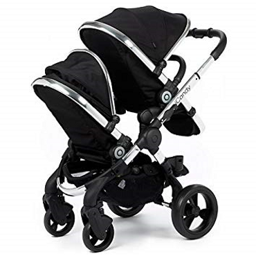 icandy peach black twill double pushchair