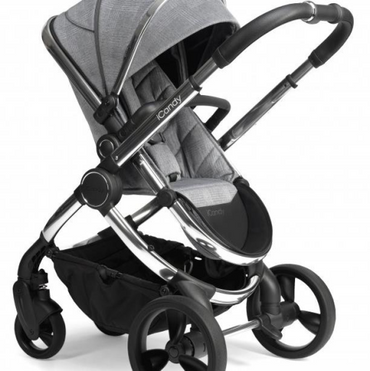 icandy peach blossom light grey check chrome double pushchair