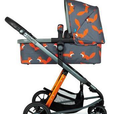 Cosatto Giggle 3 Pram and Pushchair Charcoal Mister Fox