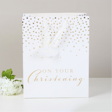 Christening Gift Bag - On your Christening Day - Large