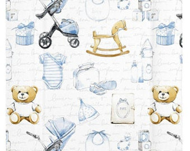 Baby boys vintage changing mat