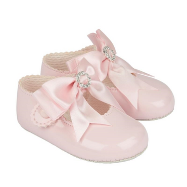 Baypod Pink Diamante Bow Shoes