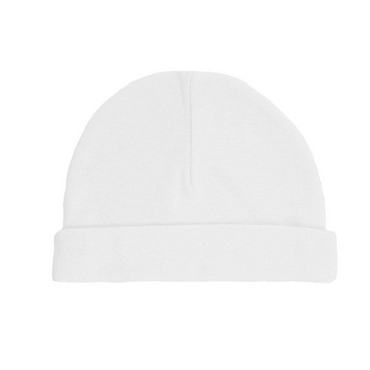 Baby Basics - White Cotton Hats Pack of Two - 0-3 Months
