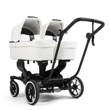 EmmalJunga NXT Twin 2020 Travel System - White Leatherette Full Twin Carrycot Bundle
