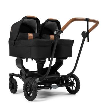 EmmalJunga NXT Twin 2020 Travel System - Outdoor Black Full Twin Carrycot Bundle