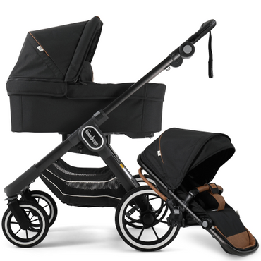 EmmalJunga NXT 90 Outdoor Black Pushchair and Carrycot Package 2 in 1