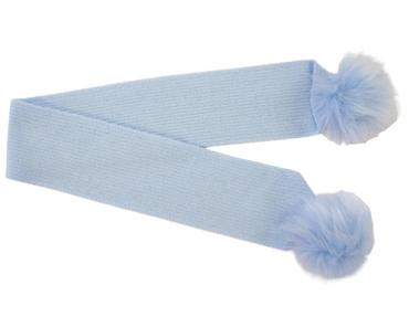Baby Blue Baby Winter Pom Pom Scarf