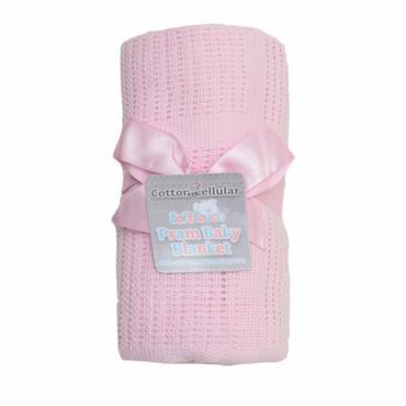 Cellular Pink Baby Blanket