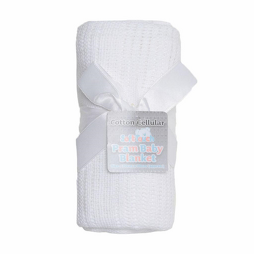 Cellular White Baby Blanket