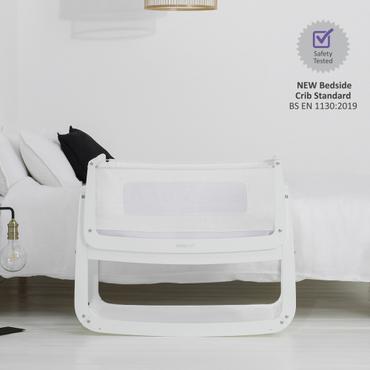 SnuzPod 4 White Bedside Crib - New 2020 Snuz Pod 4 White