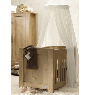 BabyStyle Bordeaux Oak Cot Bed + Free Delivery