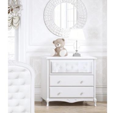 Bebecar Trama Luxury Dresser in White