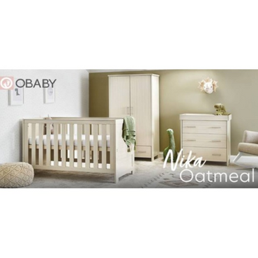 OBaby Nika 3 Piece Room Set in Oatmeal