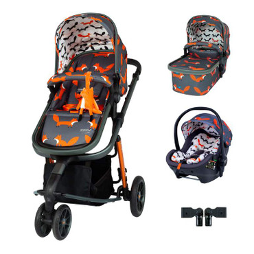 Cosatto Giggle 3 Travel System 3 in 1 RAC i-Size Premium Bundle - Charcoal Mister Fox