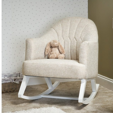 OBaby Round Back Nursery Rocking Chair in Oatmeal