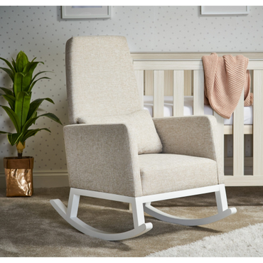 OBaby High Back rocking Nursery Chair in Oatmeal