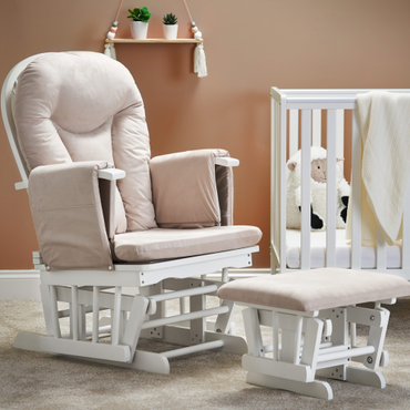 OBaby Reclining Glider Nursery Chair & Stool