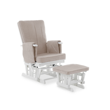 OBaby Deluxe Reclining Glider Nursery Chair & Stool - Sand