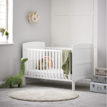 OBaby Grace White Cot Bed
