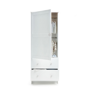 OBaby White Single Nursery Wardrobe
