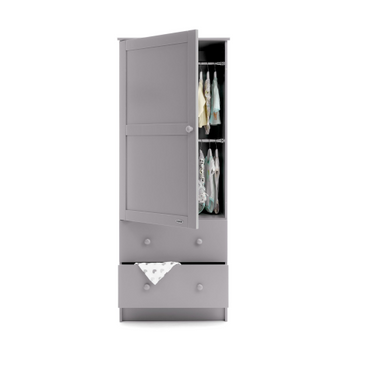 OBaby Warm Grey Single Nursery Wardrobe