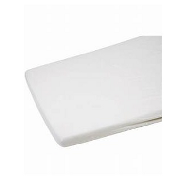Cot Bed Flannelette Sheet 2pk White