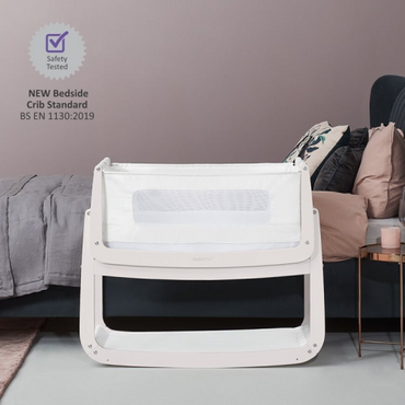 SnuzPod 4 Pink Bedside Crib - New 2020 Snuz Pod 4 Rose White
