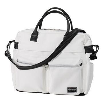 EmmalJunga Changing Bag - White Leatherette