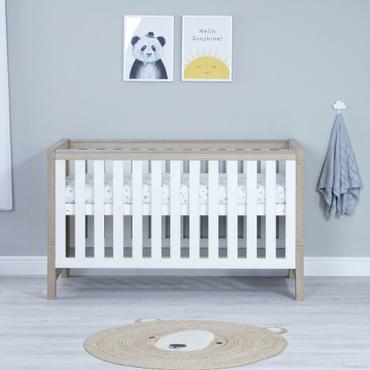 Babymore Luno White Oak Cot Bed
