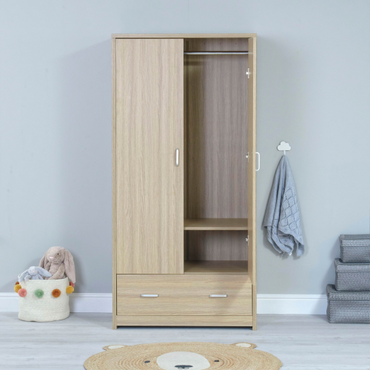 BabyMore Luno Veni Wardrobe in Oak