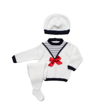 Juliana 2021 Knitted Baby Unisex Nautical 3 Piece Set