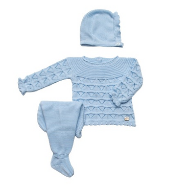 Juliana 2021 Knitted Blue Baby Boys Set