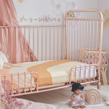 Incy Interiors Rose Gold Ellie Conversion Kit For Cot to Cot Bed